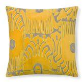 Velvet Ikat Applique Pillow, 20