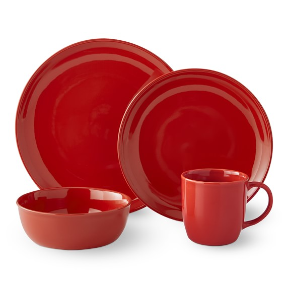 Pacifica 16-Piece Place Setting, Red
