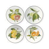 Citrus Salad Plates, Mixed Set of 4