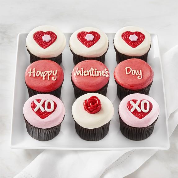 Valentine's Day Cupcakes, Set of 9