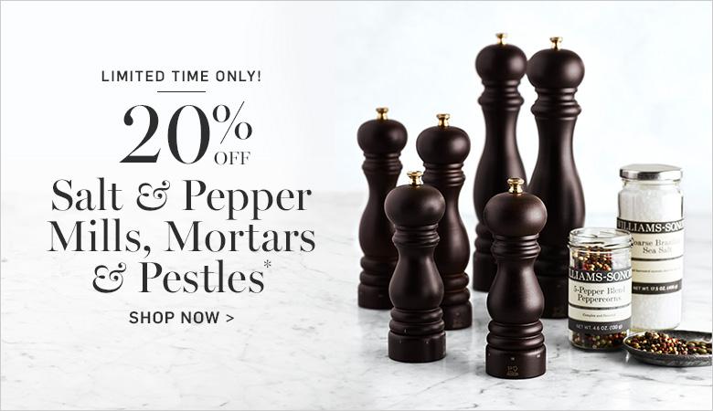 20% Off Salt & Pepper Mills, Mortars & Pestles