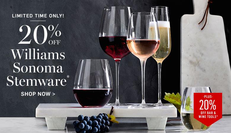 20% Off Williams Sonoma Stemware