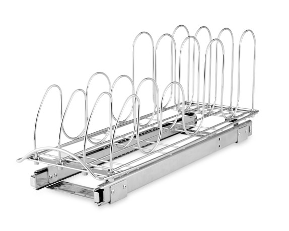 Roll-Out Lid and Tray Organizer