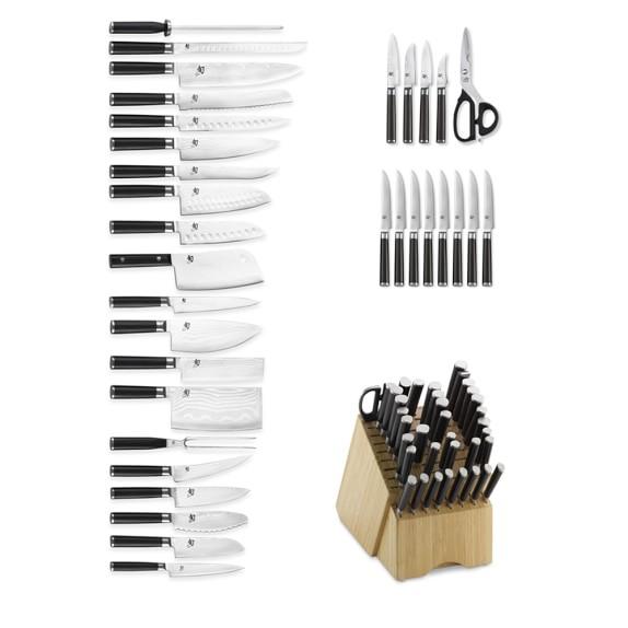 Shun Classic 34-Piece Knife Block Set   Williams Sonoma